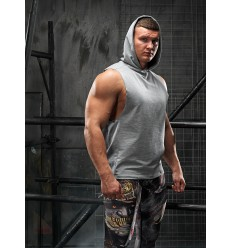 TANK TOP HOODIE RESPECT grey